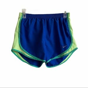 Nike Womens Athletic Blue Green Shorts Size S